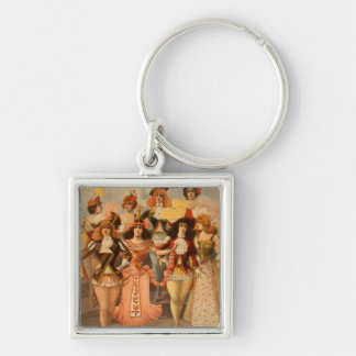 Hurly-Burly Extravaganza Theatre Poster Key Chain