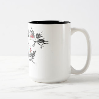 Hurly-burly in the poultry unit Two-Tone coffee mug