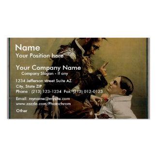Hurly Burly, 'Kelly & Ashby' Vintage Theater Double-Sided Standard Business Cards (Pack Of 100)
