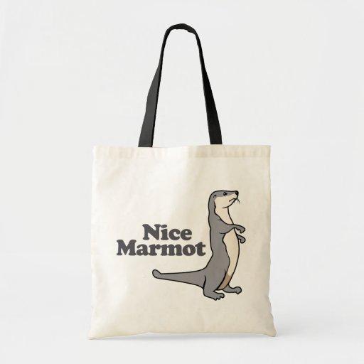 Hurón agradable de la marmota bolsas de mano