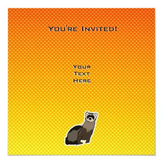 "Hurón amarillo-naranja invitación 5.25"" x 5.25"""