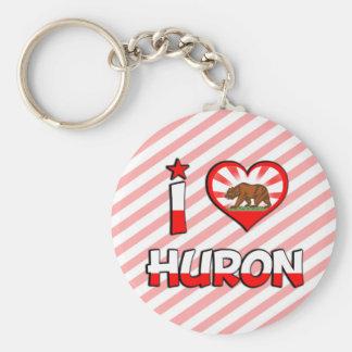 Huron, CA Keychain