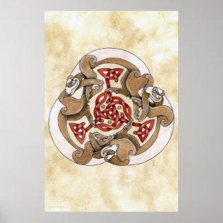 Hurón céltico Triskel Poster