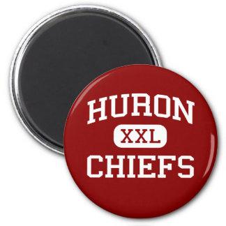 Huron - Chiefs - High School - New Boston Michigan 2 Inch Round Magnet