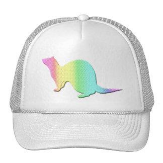 Hurón del color del arco iris gorras