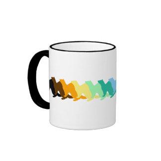 Hurón del color del arco iris tazas