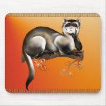 Hurón en una rama Mousepad Alfombrillas De Ratón