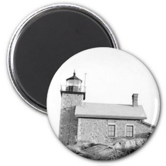 Huron Island Lighthouse 2 Inch Round Magnet