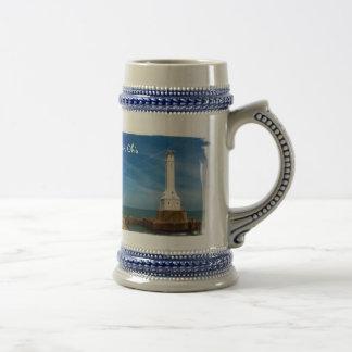 Huron lighthouse beer stein coffee mug