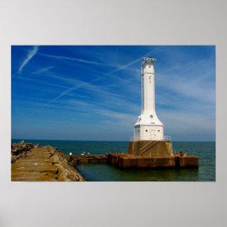 Huron lighthouse print