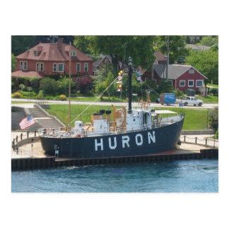 Huron Lightship Port Huron, MI St. Clair River Postcard