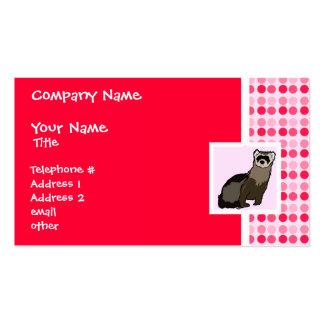 Hurón lindo tarjetas de negocios