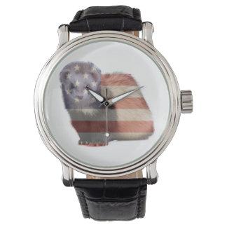 hurón patriótico reloj
