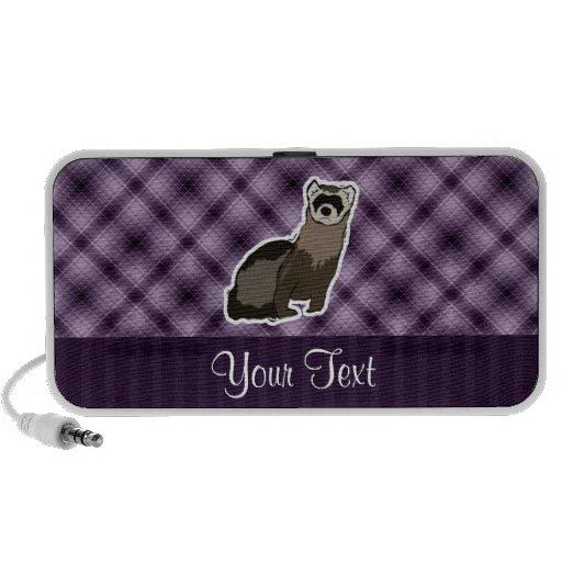 Hurón púrpura laptop altavoz