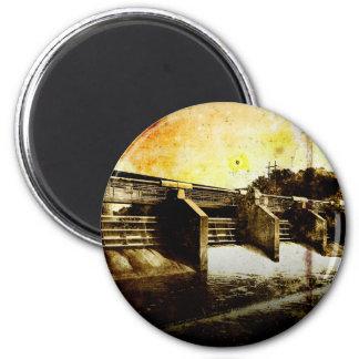 Huron River Dam 2 Inch Round Magnet