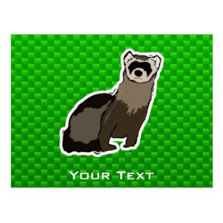 Hurón verde postales