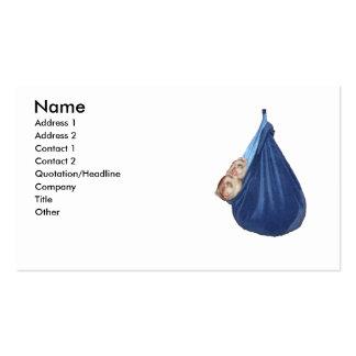 Hurónes en una tarjeta de visita del saco de dormi