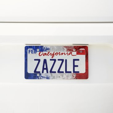 USA Themed hurray for the red white and blue license plate frame