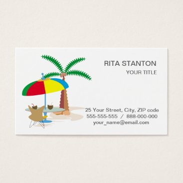 Beach Themed Hurray, vacation! business card