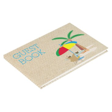 Beach Themed Hurray, vacation! guest book