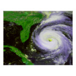 Hurrican Fran de la Florida - imagen de 1996 satél Poster