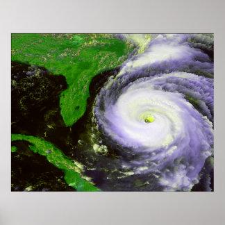 Hurrican Fran de la Florida - imagen de 1996 satél Póster