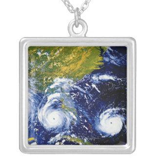 Hurricane Andrew Square Pendant Necklace
