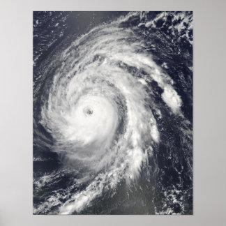 Hurricane Bill in the Atlantic Ocean Poster