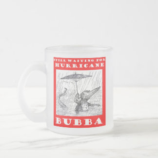 Hurricane Bubba - Where Are You? Frosted Glass Coffee Mug