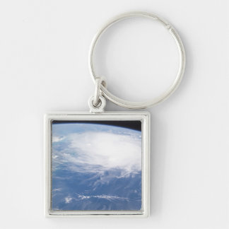 Hurricane Charley 3 Silver-Colored Square Keychain