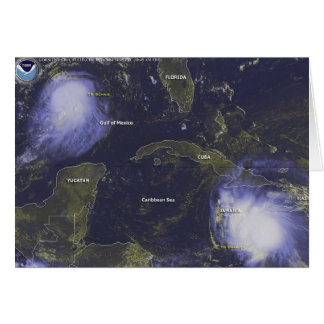 Hurricane Charley Satellite Image, August 11, 2004 Stationery Note Card