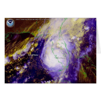 Hurricane Charley Satellite Image, August 13, 2004 Stationery Note Card