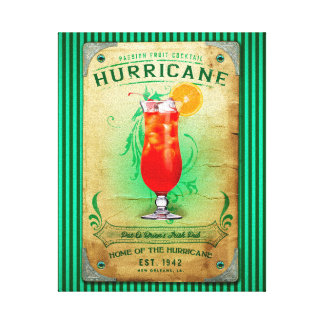 Hurricane Cocktail Stretched Canvas Prints