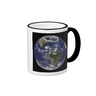 Hurricane Dean Approaches Yucatan Peninsula Ringer Coffee Mug