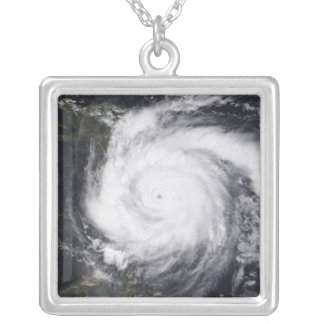 Hurricane Dean in the Atlantic and Carribbean Silver Plated Necklace