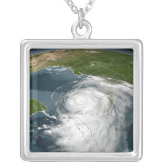 Hurricane Dennis 3 Square Pendant Necklace