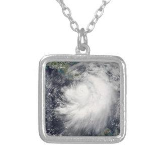Hurricane Dennis Square Pendant Necklace