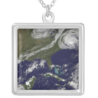 Hurricane Earl 3 Silver Plated Necklace