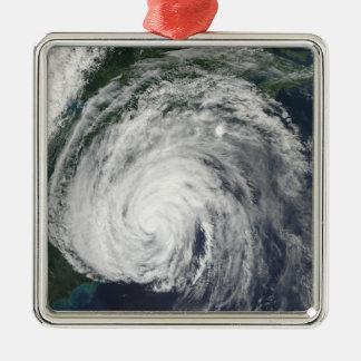 Hurricane Earl off the Mid-Atlantic Square Metal Christmas Ornament