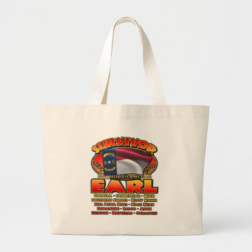 Hurricane Earl - Survivor Canvas Bag