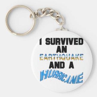 Hurricane Earthquake Keychain