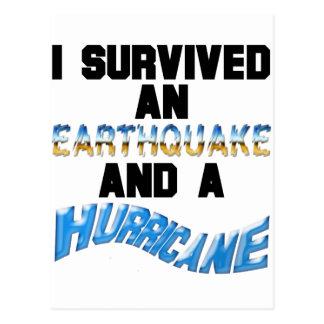 Hurricane Earthquake Postcard