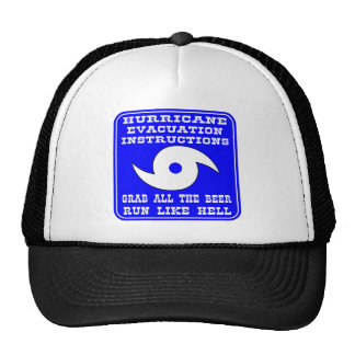Hurricane Evacuation Instructions Plan Trucker Hat
