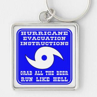 Hurricane Evacuation Instructions Plan Keychain