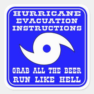 Hurricane Evacuation Instructions Plan Square Sticker