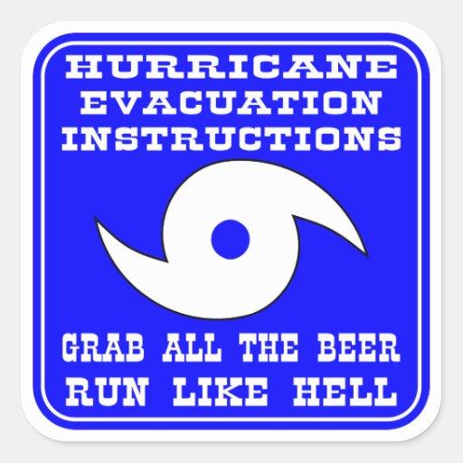 hurricane evacuation instructions plan square sticker zazzle