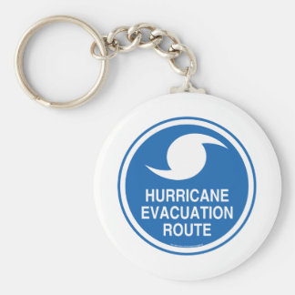 Hurricane Evacuation Keychain