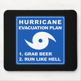 Hurricane Evacuation Plan Mouse Pad