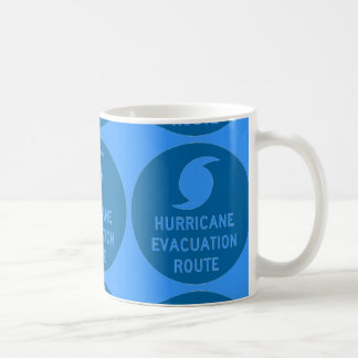 hurricane evacuation route blue coffee mug