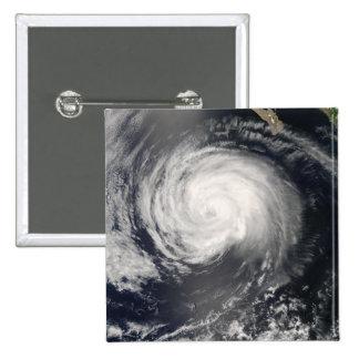 Hurricane Fausto 2 Inch Square Button